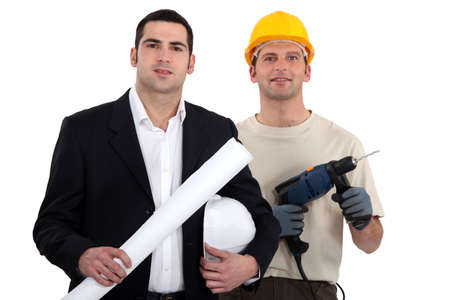 Architect and builder Stock Photo - 13834464