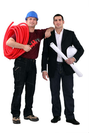 Architect and electrician photo