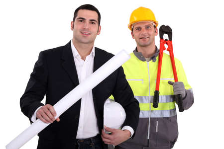 architect and foreman working hand in hand Stock Photo - 13848045