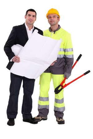 Businessman and foreman photo