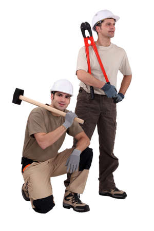 A team of labourers Stock Photo - 13834472