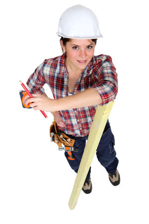 Female carpenter Stock Photo - 13848092