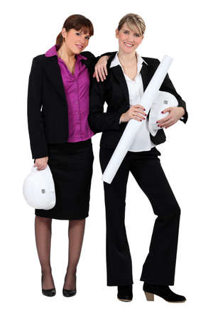 Two female architects. photo