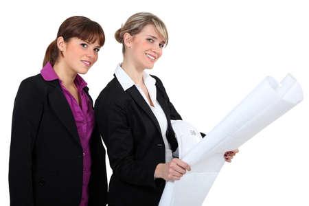 duo of female architects Stock Photo - 13833005