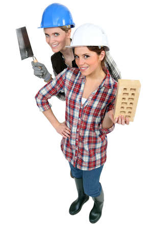 A team of tradeswomen Stock Photo - 13849802