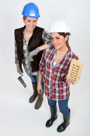 A team of tradeswomen Stock Photo - 13884978