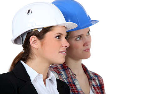 Women construction workers Stock Photo - 13848219