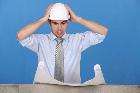 An architect having a hard time. Stock Photo - 13900231
