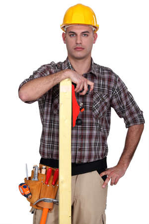 woodworker posing Stock Photo - 13884347