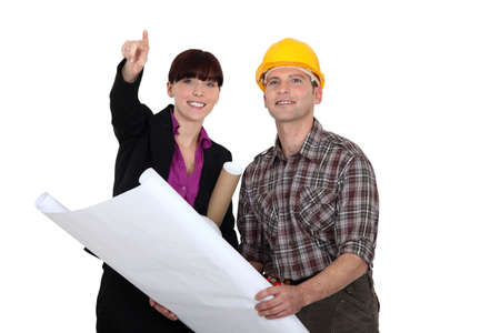 joiner: Architect and builder Stock Photo