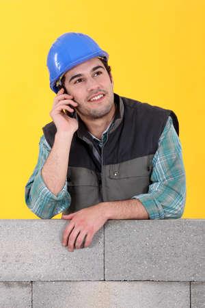 gaping: Mason on the phone