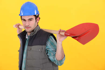Worker with shovel Stock Photo - 13899011