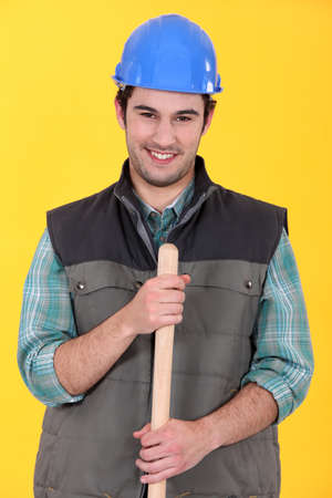 Portrait of a smiling tradesman photo