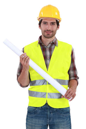 Foreman standing on white background Stock Photo - 13882550