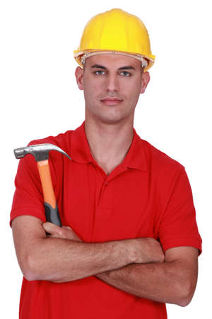 laborer with hammer photo