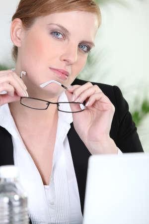 Woman job applicant photo