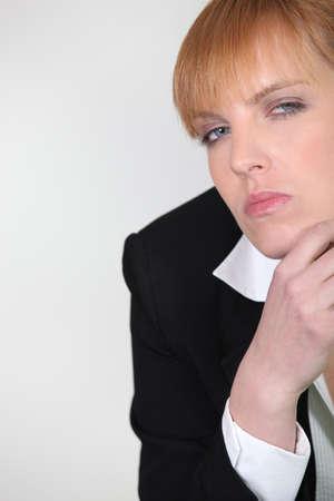 mecha: Woman upset Stock Photo
