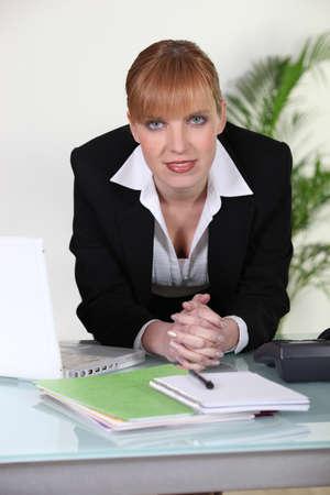 ginger haired: Ginger haired businesswoman
