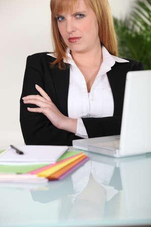 authoritative woman: If looks could kill... Stock Photo