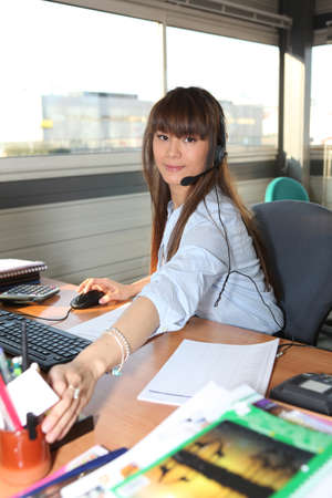 woman working in her office photo