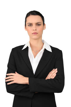 wrathful: strict business woman