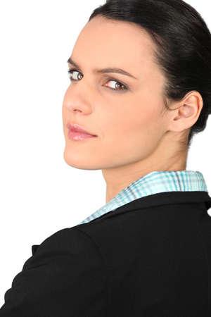 unemotional: Portrait of an ambitious businesswoman
