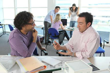 collaborators: Architects having discussion