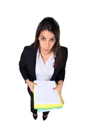 Young secretary, studio shot Stock Photo - 13826937