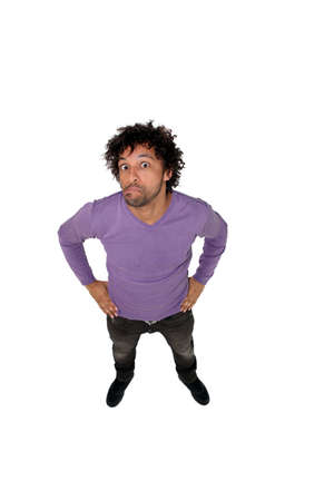 puzzlement: Man pulling a silly puzzled face Stock Photo