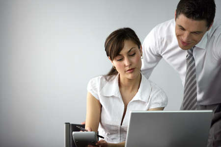 Boss and Personal Assistant or secretary.  Stock Photo - 13852475