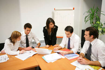boardroom meeting: Young people in a business meeting