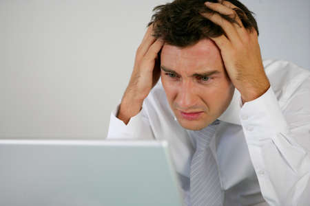 wanhopig: Een wanhopige zakenman