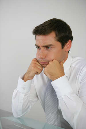 business man sighing Stock Photo - 13850858
