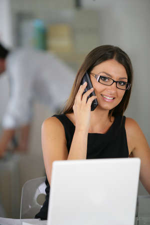 Business woman at work Stock Photo - 13851230