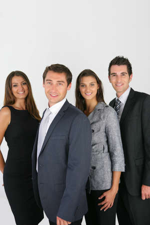 Dynamic business people photo