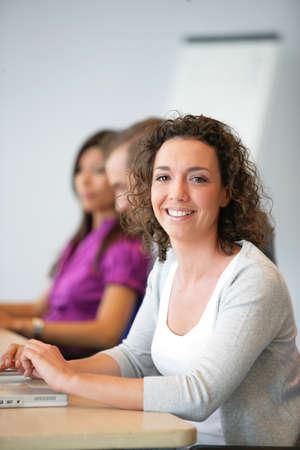 Woman attending a seminar photo