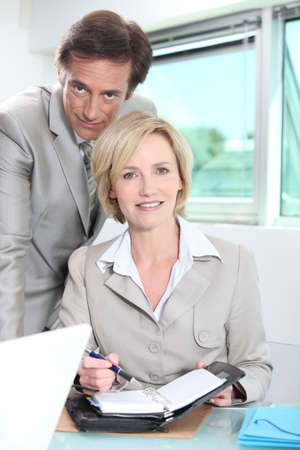 Businessman and woman Stock Photo - 13901511