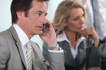 collaborators: businessman on the phone