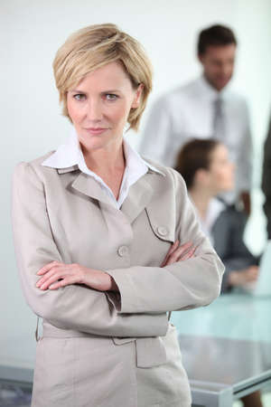 businesswoman standing photo