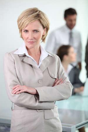 businesswoman standing photo