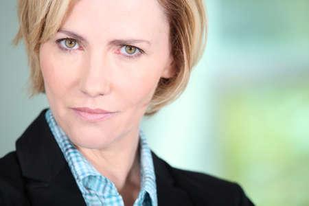 median age: Portrait of woman Stock Photo