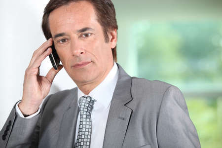Businessman on the phone. Stock Photo - 13912382