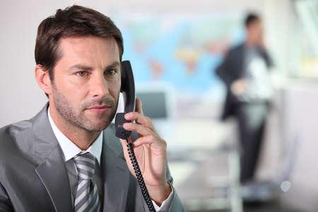 Serious businessman photo