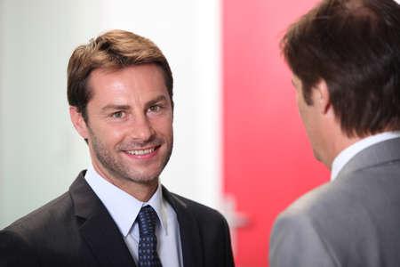 Businessman smiling Stock Photo - 13882689