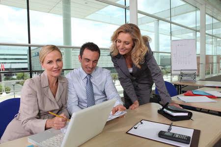 fair hair: Business meeting Stock Photo