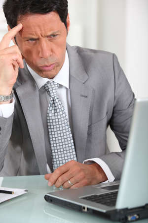 Annoyed executive Stock Photo - 13884972