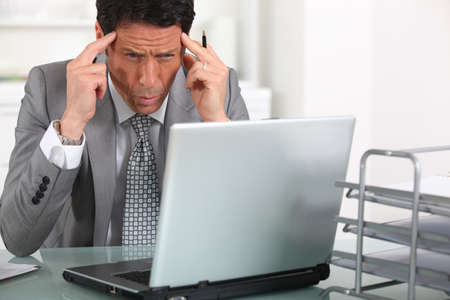 businessman in trouble Stock Photo - 13878884
