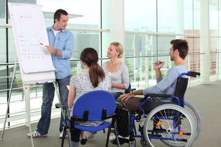 behindert: Behinderung bei der Arbeit