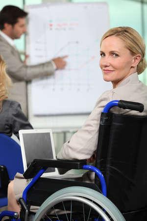woman in wheelchair photo