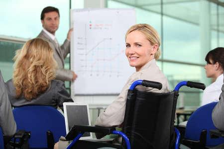 willingness: Professional team meeting Stock Photo